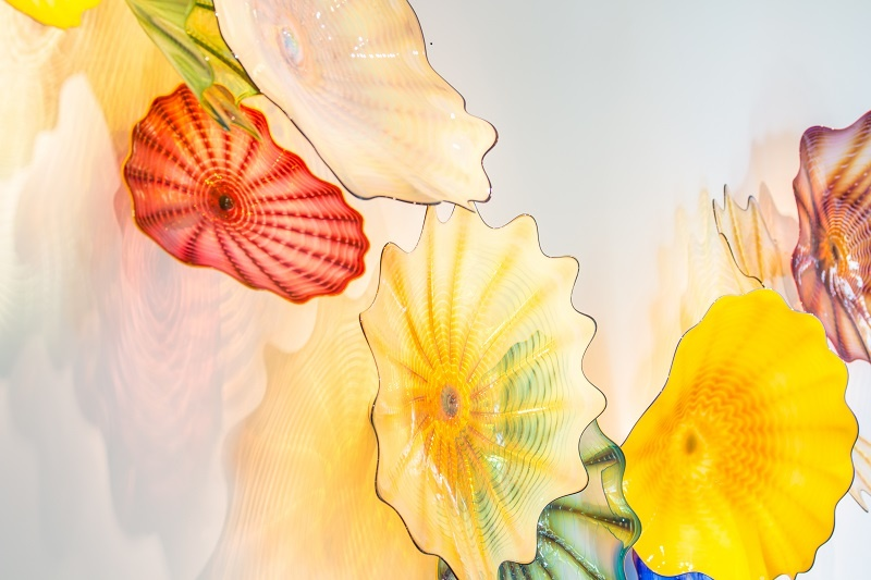 Skip the elevator, take the stairs to see Chihuly\'s \