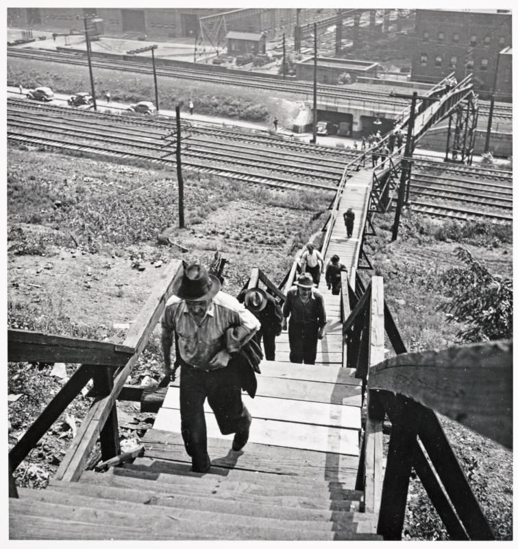 Pa Programs In Florida >> Workers Going Home from Steel Mills, Pittsburgh, PA, circa ...